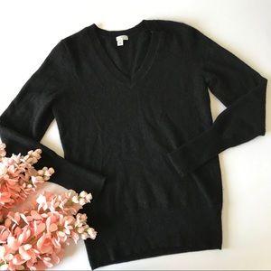Halogen Black Cashmere Sweater